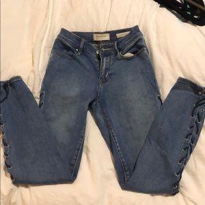 Pacsun Lace Up Jeans